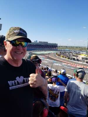 Curtis attended Fanshield 500 - NASCAR Cup Series on Mar 8th 2020 via VetTix