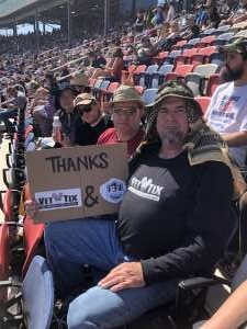 Jerry  attended Fanshield 500 - NASCAR Cup Series on Mar 8th 2020 via VetTix