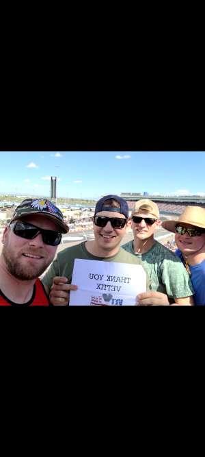 Ben attended Fanshield 500 - NASCAR Cup Series on Mar 8th 2020 via VetTix