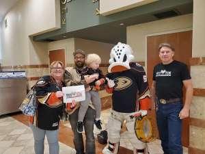 Dick and Connie attended Anaheim Ducks vs. Minnesota Wild - NHL on Mar 8th 2020 via VetTix