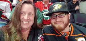 Andrea attended Anaheim Ducks vs. Minnesota Wild - NHL on Mar 8th 2020 via VetTix
