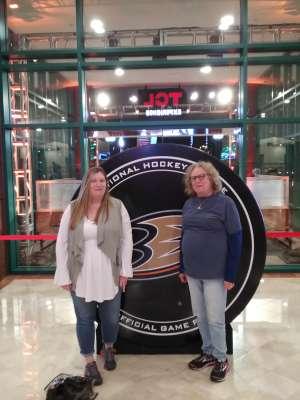 Sue Holt attended Anaheim Ducks vs. Minnesota Wild - NHL on Mar 8th 2020 via VetTix