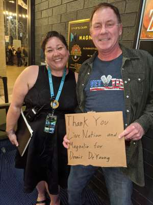 Dave attended Dennis DeYoung on Mar 7th 2020 via VetTix