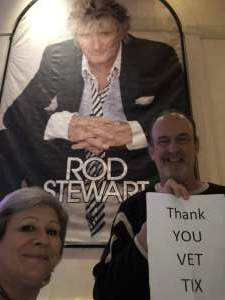 Steve Horton attended Rod Stewart: the Hits. on Mar 11th 2020 via VetTix