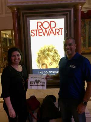 Mace attended Rod Stewart: the Hits. on Mar 11th 2020 via VetTix