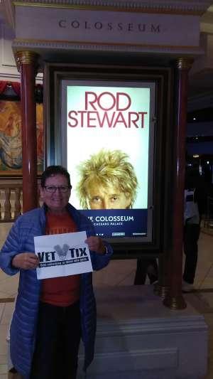 Zip attended Rod Stewart: the Hits. on Mar 13th 2020 via VetTix