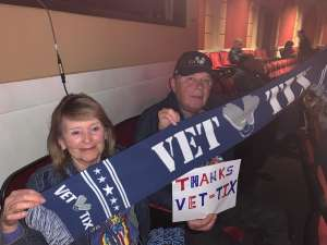 Brock and Bettina attended Rod Stewart: the Hits. on Mar 14th 2020 via VetTix