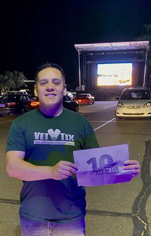Daniel attended Drive-in-movie Experience: Onward - 7: 10 PM Showing on May 21st 2020 via VetTix