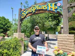 Steve attended Golfland Sunsplash - Single Day Water Park Admission on May 29th 2020 via VetTix