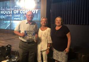 L. Weinzierl  attended Rick Bronson's House of Comedy on Jul 10th 2020 via VetTix