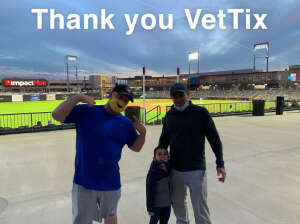 Drew attended Chicago Dogs vs Winnipeg Goldeyes - MiLB on Jul 30th 2020 via VetTix