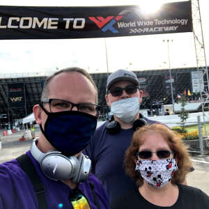 Glenn F. attended The Gateway 200 Powered by Ck Power NASCAR Truck Series and the Bommarito Automotive Group 500 Indycar Race - Auto Racing on Aug 30th 2020 via VetTix