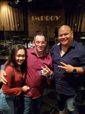 Jorge Zarate attended Arlington Improv on Aug 9th 2020 via VetTix