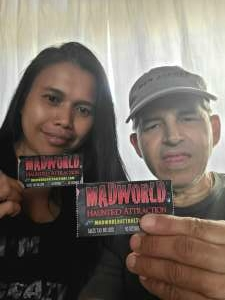Tim Squires  attended Madworld Haunted Attraction on Oct 9th 2020 via VetTix