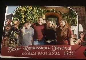Tazz  attended Texas Renaissance Festival - Roman Bacchanal on Oct 18th 2020 via VetTix