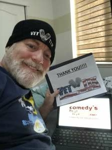 David attended Comedy's Best Kept Secret Tour 2020 - Virtual Comedy Show on Sep 18th 2020 via VetTix