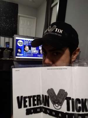 Ed attended The Laugh Tour: Virtual Stand Up Comedy Via Zoom on Sep 12th 2020 via VetTix