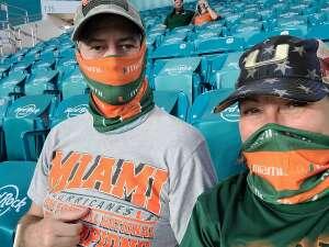 Diane attended University of Miami Hurricanes vs. University of Alabama at Birmingham Blazers - NCAA Football on Sep 10th 2020 via VetTix