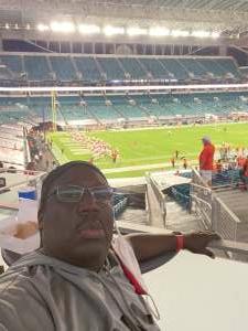 Coach Fred attended University of Miami Hurricanes vs. University of Alabama at Birmingham Blazers - NCAA Football on Sep 10th 2020 via VetTix
