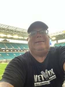 Jeffrey attended University of Miami Hurricanes vs. University of Alabama at Birmingham Blazers - NCAA Football on Sep 10th 2020 via VetTix