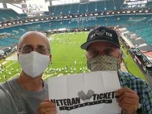 Eliot attended University of Miami Hurricanes vs. University of Alabama at Birmingham Blazers - NCAA Football on Sep 10th 2020 via VetTix
