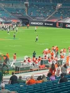 Danielle  attended University of Miami Hurricanes vs. University of Alabama at Birmingham Blazers - NCAA Football on Sep 10th 2020 via VetTix