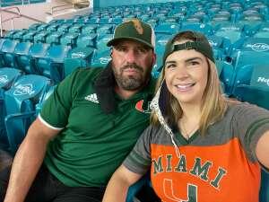 Mike Angel attended University of Miami Hurricanes vs. University of Alabama at Birmingham Blazers - NCAA Football on Sep 10th 2020 via VetTix