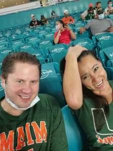 Eric attended University of Miami Hurricanes vs. University of Alabama at Birmingham Blazers - NCAA Football on Sep 10th 2020 via VetTix