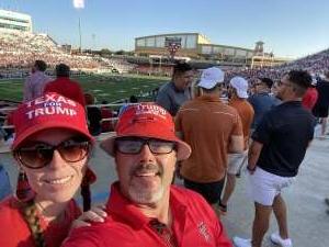 Joel Jankowski  attended Texas Tech Red Raiders vs. University of Texas - NCAA Football on Sep 26th 2020 via VetTix