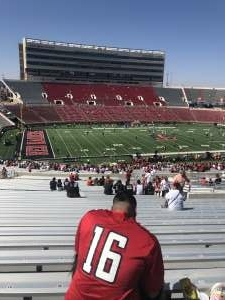Manster  attended Texas Tech Red Raiders vs. University of Texas - NCAA Football on Sep 26th 2020 via VetTix