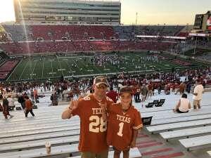 Shawn attended Texas Tech Red Raiders vs. University of Texas - NCAA Football on Sep 26th 2020 via VetTix