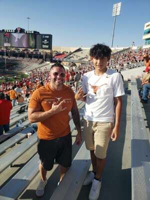 Eric attended Texas Tech Red Raiders vs. University of Texas - NCAA Football on Sep 26th 2020 via VetTix
