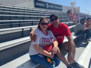 Roberto Ruiz Jr  attended Texas Tech Red Raiders vs. University of Texas - NCAA Football on Sep 26th 2020 via VetTix