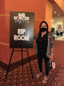 Janice attended Mad Monster Party on Oct 9th 2020 via VetTix