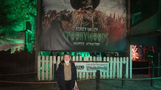 Dar attended Kersey Valley Spookywoods on Oct 4th 2020 via VetTix