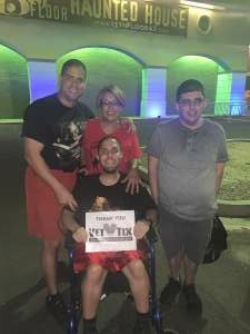 DR attended 13th Floor Haunted House on Oct 2nd 2020 via VetTix