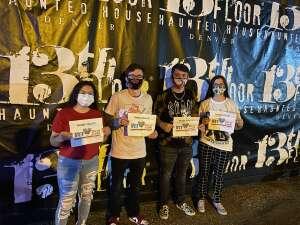 SFC David Whitelaw attended 13th Floor Haunted House on Oct 1st 2020 via VetTix