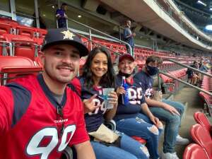 Anthony Lopez attended Houston Texans vs. Minnesota Vikings - NFL on Oct 4th 2020 via VetTix