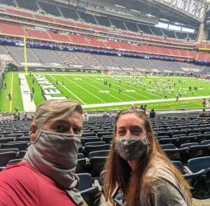 Adam (Navy) attended Houston Texans vs. Minnesota Vikings - NFL on Oct 4th 2020 via VetTix