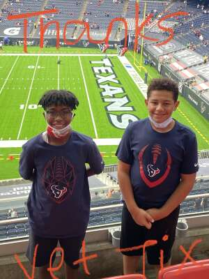 Joe Davis attended Houston Texans vs. Minnesota Vikings - NFL on Oct 4th 2020 via VetTix
