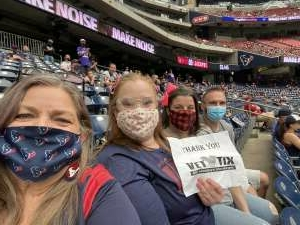 Alex attended Houston Texans vs. Minnesota Vikings - NFL on Oct 4th 2020 via VetTix