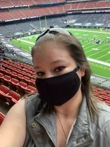 NavyGirl attended Houston Texans vs. Minnesota Vikings - NFL on Oct 4th 2020 via VetTix