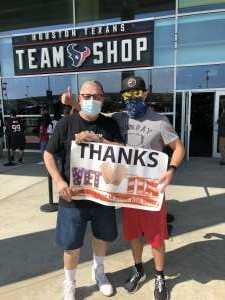 Adam M attended Houston Texans vs. Minnesota Vikings - NFL on Oct 4th 2020 via VetTix