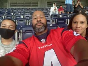 Willie  attended Houston Texans vs. Minnesota Vikings - NFL on Oct 4th 2020 via VetTix