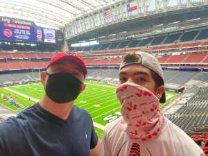 Zach Christman attended Houston Texans vs. Minnesota Vikings - NFL on Oct 4th 2020 via VetTix