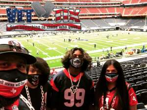 Uriel Alvarez attended Houston Texans vs. Minnesota Vikings - NFL on Oct 4th 2020 via VetTix