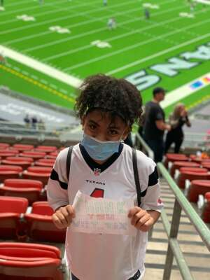Leslie attended Houston Texans vs. Minnesota Vikings - NFL on Oct 4th 2020 via VetTix