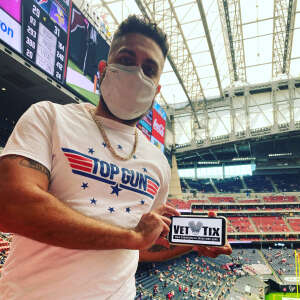 Sgt. Rodriguez  attended Houston Texans vs. Minnesota Vikings - NFL on Oct 4th 2020 via VetTix