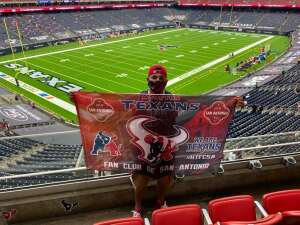 Joseph Paul Rosales attended Houston Texans vs. Minnesota Vikings - NFL on Oct 4th 2020 via VetTix