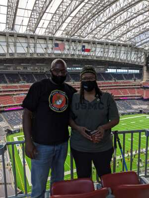 LaFonzo Prince attended Houston Texans vs. Minnesota Vikings - NFL on Oct 4th 2020 via VetTix